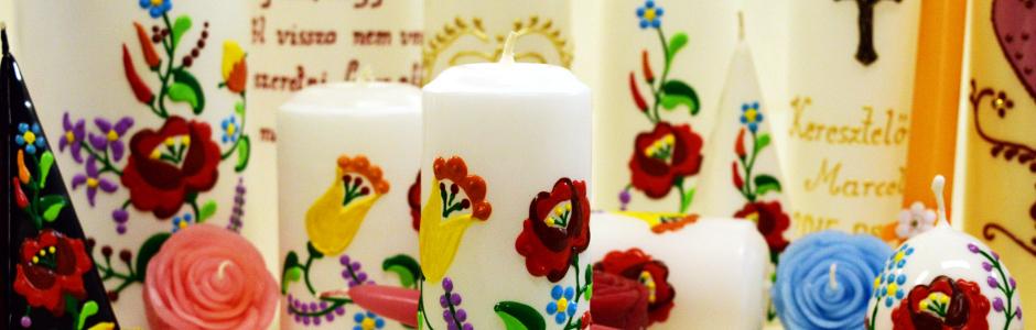 Kézműves gyertyák - színt viszünk a hétköznapokba