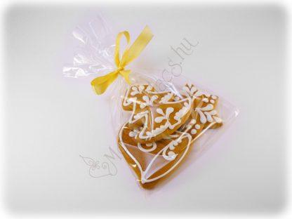 Karácsonyi mézeskalács harang, csillag, fenyő egy csomagban
