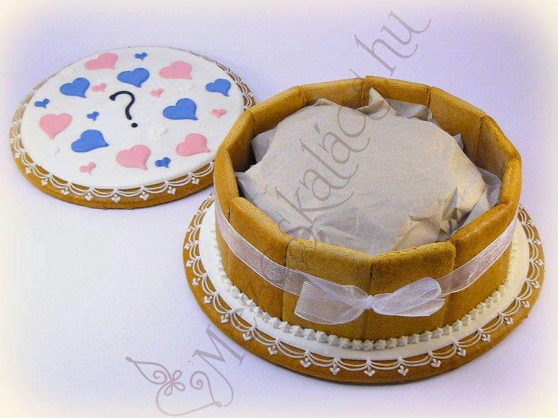 Nemfelfedő mézeskalács torta doboz