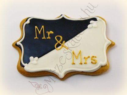 Mézeskalács tábla esküvőre